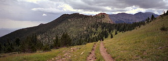 I think this is the trail that eventually goes to Horn Peak